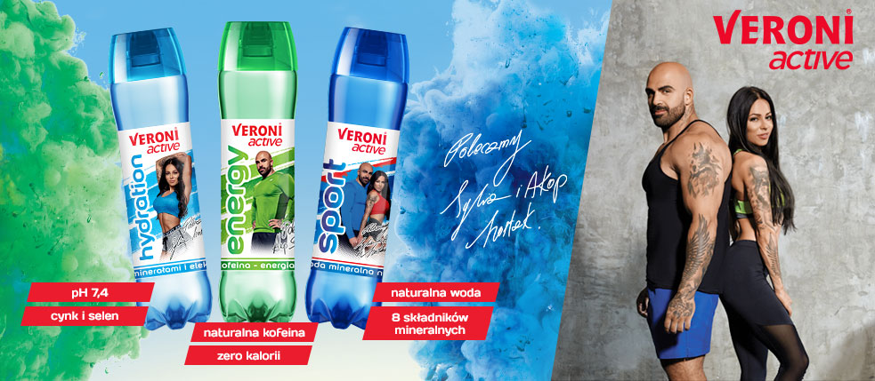 Veroni active functional drinks with new ambassadors
