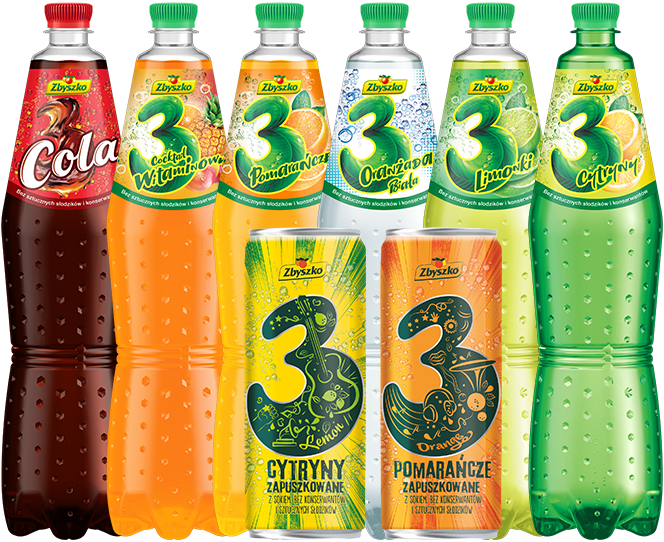 3 Fruits carbonated
